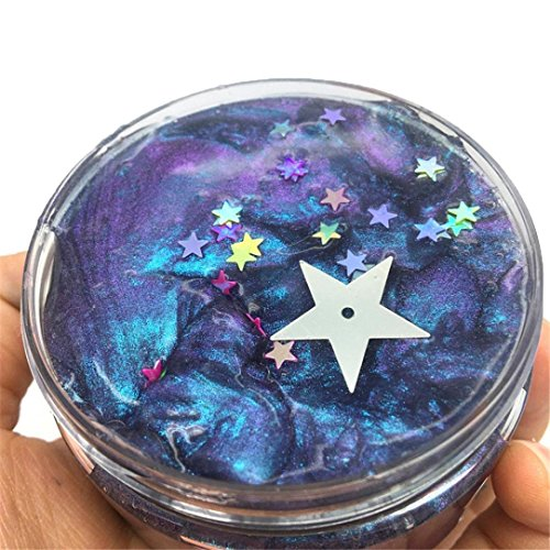 Kanzd Galaxy Clear Bounce Crystal Cloud Slime Putty Scented Stress Kids Clay Toy (F)