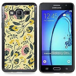 For Samsung Galaxy On5 O5 Case , 80S 70S Papier peint Design - Diseño Patrón Teléfono Caso Cubierta Case Bumper Duro Protección Case Cover Funda