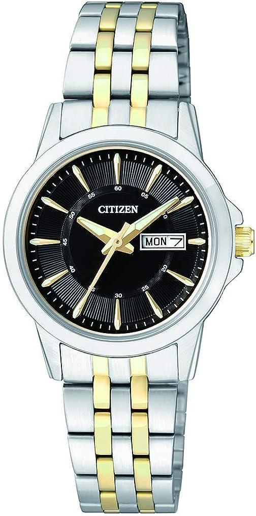 Citizen Reloj Analógico para Mujer de Cuarzo con Correa en Acero Inoxidable EQ0608-55EE
