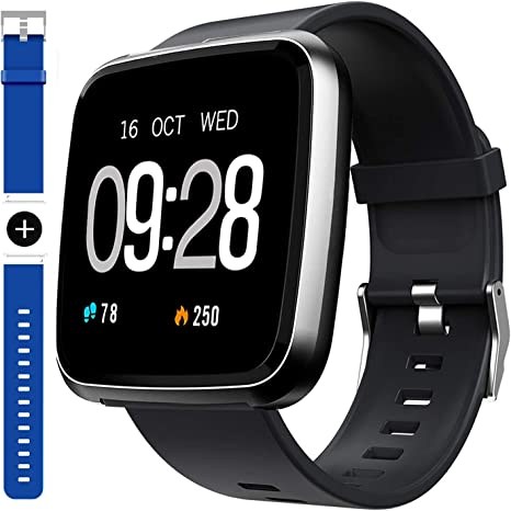GARINEMAX Smart Watch,Waterproof Smartwatch, Fitness Tracker with Heart Rate,Blood Oxygen, Sleep Monitor,Message Call Reminder Smart Watch for Men ...