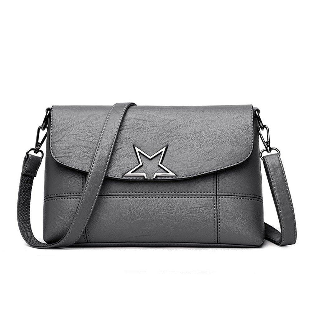 Meaeo Leder Pu Frauen Handtaschen Handtaschen Handtaschen Mode   Frauen Schulter Crossbody Taschen Frauen Umhängetasche, Grau B07G2SX5GK Schultertaschen Üppiges Design d3b6c9