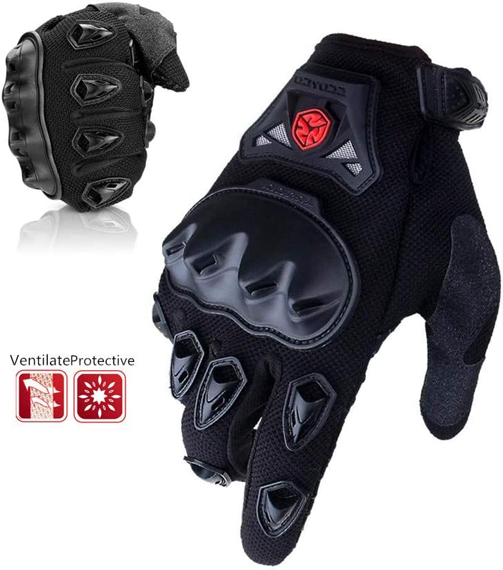 Scoyco Touch Screen Full Finger Motorcycle MBX Racing,Reinforced Knuckle,Ventilate Outdoor Glove BLUE,L