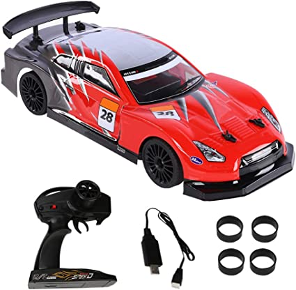 Amazon Com Rc Drift Racing Car Electric 2 4g Rc Vehicle Remote Control Car Sport Racing Drift Car Vehicle Toy For Kids Gift Toys Games