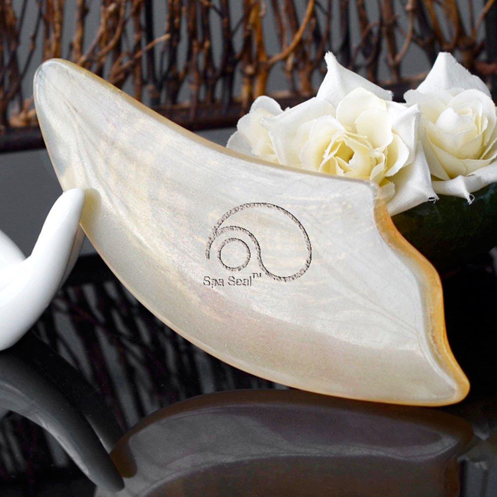 Natural Buffalo Horn Smooth Gua Sha Board Scraping Massage Tools For Body  and Face,Trigger