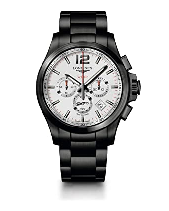 cc6363b45db Amazon.com: Longines Conquest V.H.P. Silver Dial Men's Watch: Watches