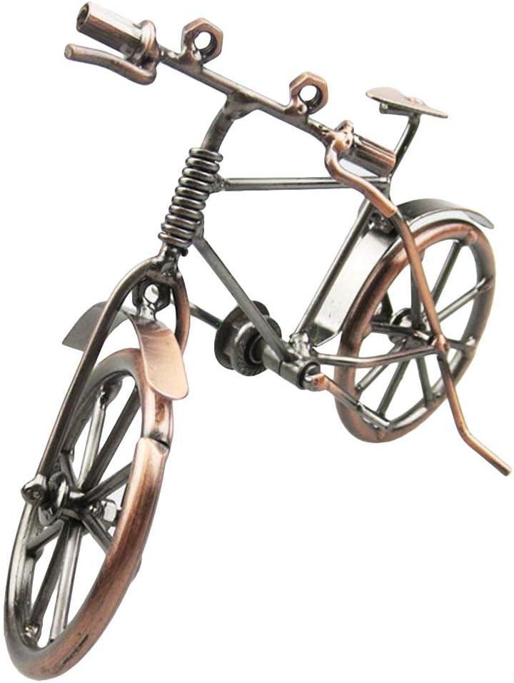 ysister Modelo de Bicicleta de Metal, Bicicleta Decorativa, Arte de Hierro Vintage, Modelo de Bicicleta, colección de Escultura de Viaje, pequeño Regalo para Ciclista (19 * 6.5 * 12 cm)