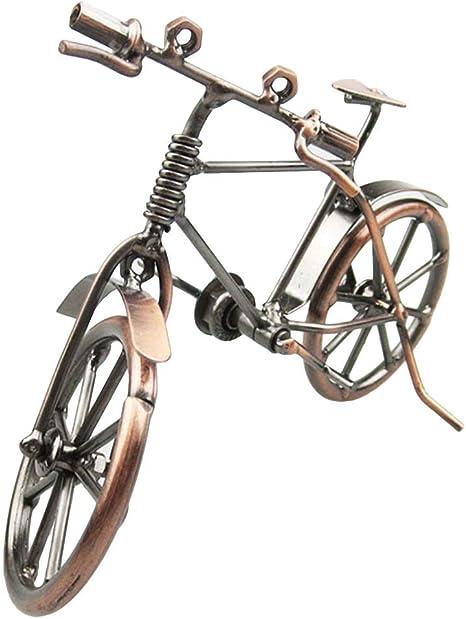 ysister Modelo de Bicicleta de Metal, Bicicleta Decorativa, Arte de Hierro Vintage, Modelo de Bicicleta, colección de Escultura de Viaje, pequeño ...