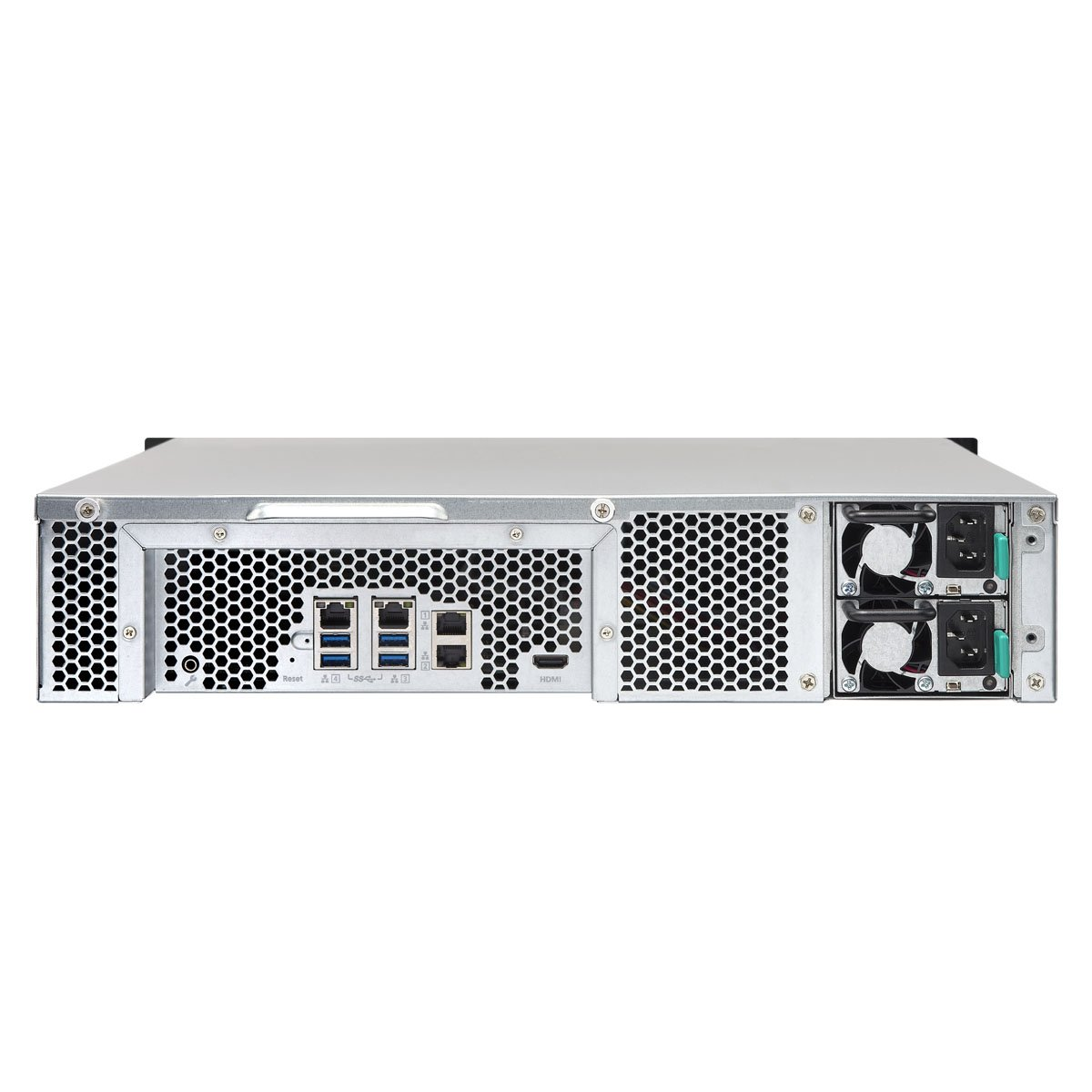 QNAP TS-1253U-RP 12-bay 2U iSCSI NAS, Intel 2.0GHz Quad Core CPU with 4GB RAM, 2.5''/3.5'' SATA 6Gb/s, Hot-swappable, Redundant PSU by QNAP (Image #4)