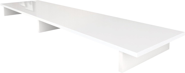Vladon Tv Aufsatz Monitorerhöhung Game In Weiß Weiß Hochglanz Küche Haushalt