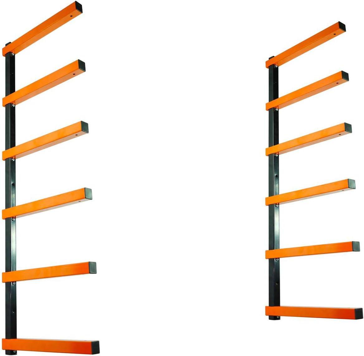 KASTFORCE KF1006 Lumber Storage Rack 6-Level System 110 lbs per Level with Durable Sheet Metal Screws, Wood Rack, Workshop Rack