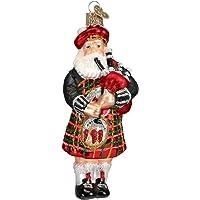 Old World Christmas Ornaments: Highland Santa Glass Blown Ornaments for Christmas Tree