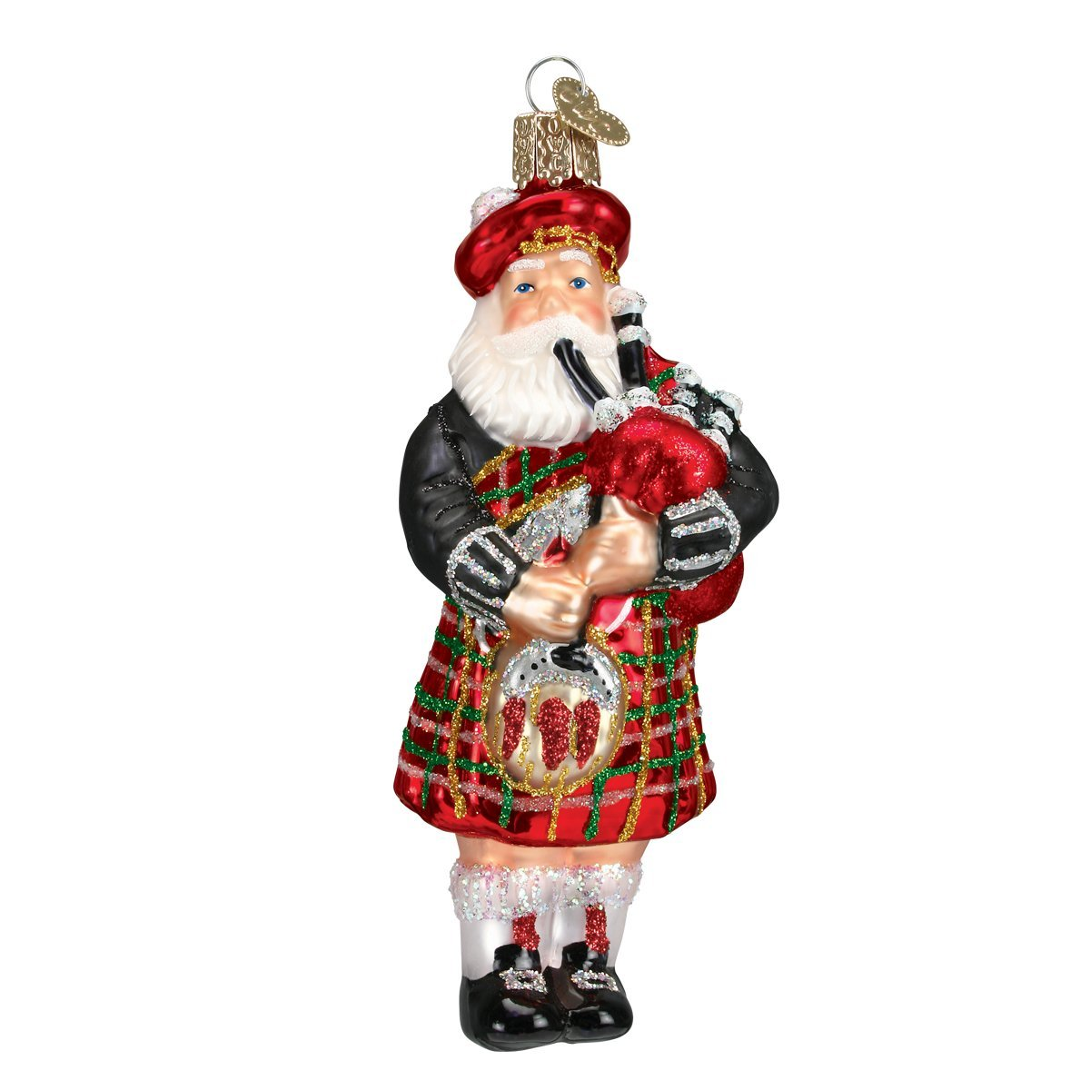 Old World Christmas Highland Assortment of Santas Glass Blown Ornaments for Christmas Tree
