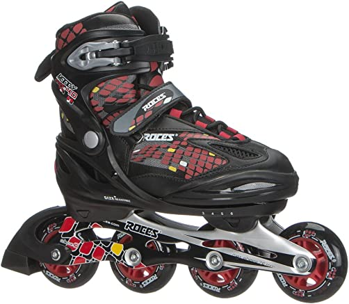 Roces 400792 Men s Model Moody 4.0 Adjustable Inline Skate, US 13jr-3, Black Astro Blue Red
