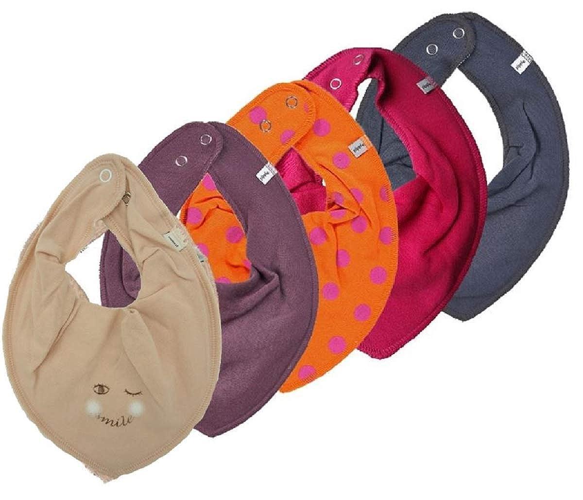Pippi 4er Set ~ zur Auswahl ~ Baby Dreieckstuch Halstuch 4 Stück Organic Cotton + 1 GRATIS Tuch ~ 5er Pack