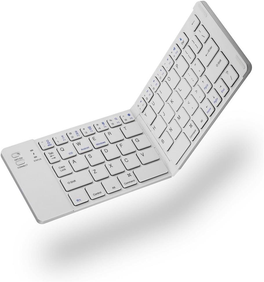 Hopcd Teclado Bluetooth Plegable, Teclado portátil inalámbrico portátil, 10 metros/30 pies de Distancia de transmisión PC Tablet Smartphone Teclado ...