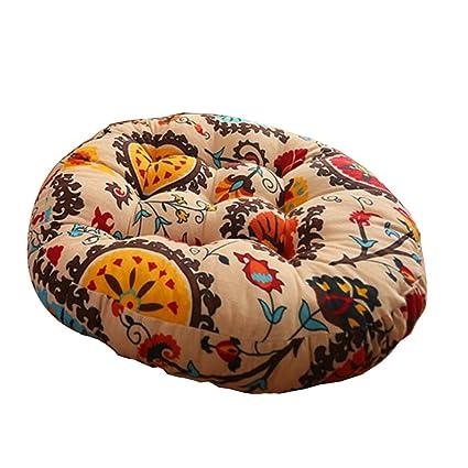 Amazon.com: George Jimmy Round Sofa Seat Pad Floor Pillows ...