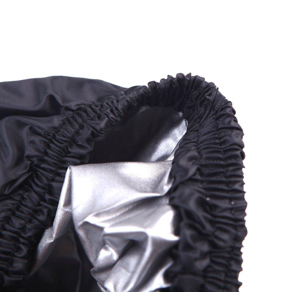 logas Housse de Protection B/âche Exterieur Couverture Noire Imperm/éable pour Moto ATV Quad L//XL//XXL//XXXL