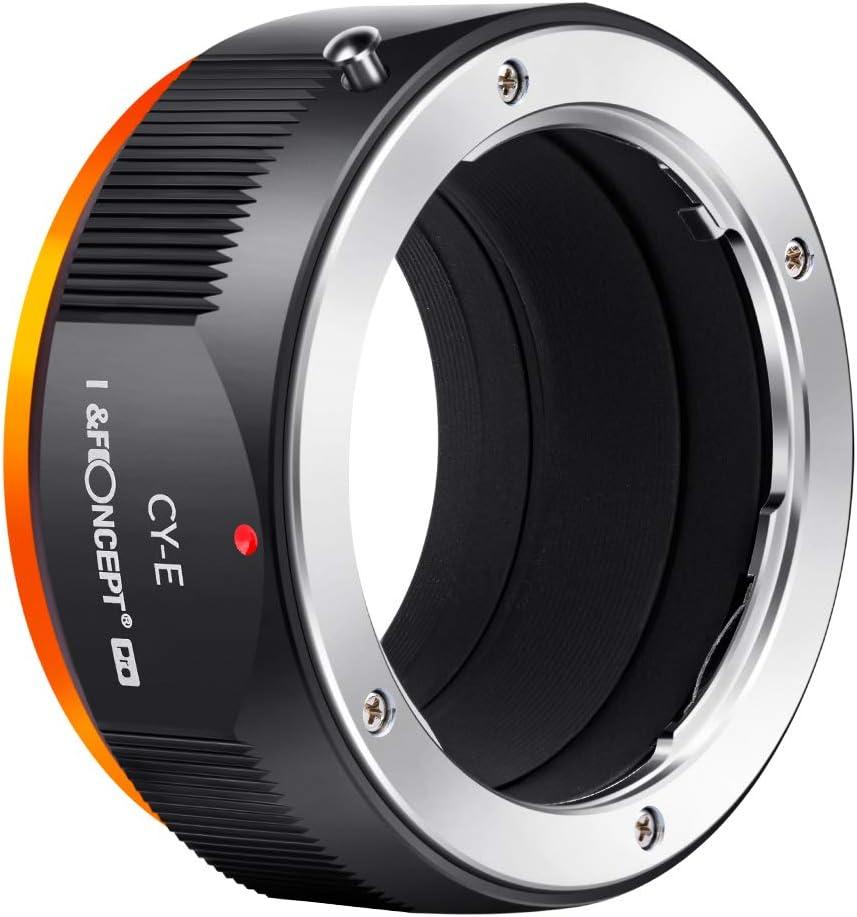 K/&F Concept Lens Mount Adapter for Contax//Yashica C//Y Lens to Sony Alpha NEX E-Mount Cameras with Matting Varnish Design for Sony NEX-3 NEX-3C NEX-3N NEX-5
