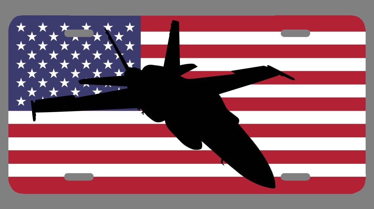 Screw Caps VETERAN US AIR FORCE Glossy Black License Plate Frame