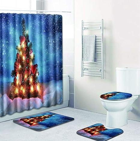 Amazon Com Visunion Christmas Bathroom Decorating Snowy Christmas
