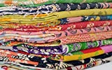 5 Pieces Mix Lot Whole Sale Tribal Kantha Quilts Vintage Cotton Bed Cover Throw Old Assorted Patches Made Rally