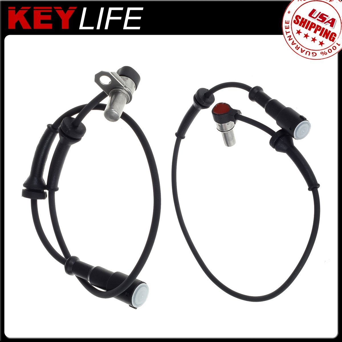AUTEX 2PCS ABS Wheel Speed Sensor Front Left /& Right ALS1169 compatible with Land Rover Discovery 1999 2000 2001 2002 2003 2004 4.0L 4.6L