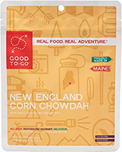GOOD TO-GO New England Corn Chowdah | Dehydrated Backpacking and Camping Food | Lightweight | Easy to Prepare