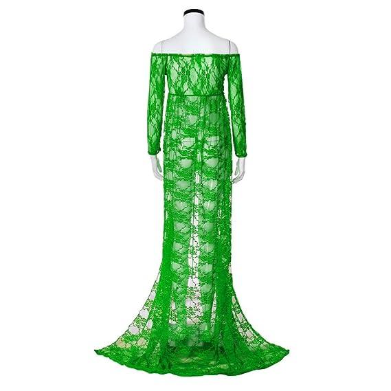 Amazon.com: Maternidad Off hombro vestido de encaje con ...
