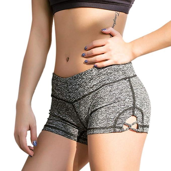 beautyjourney Shorts Deportivos Ajustados para Mujer Estirar ...