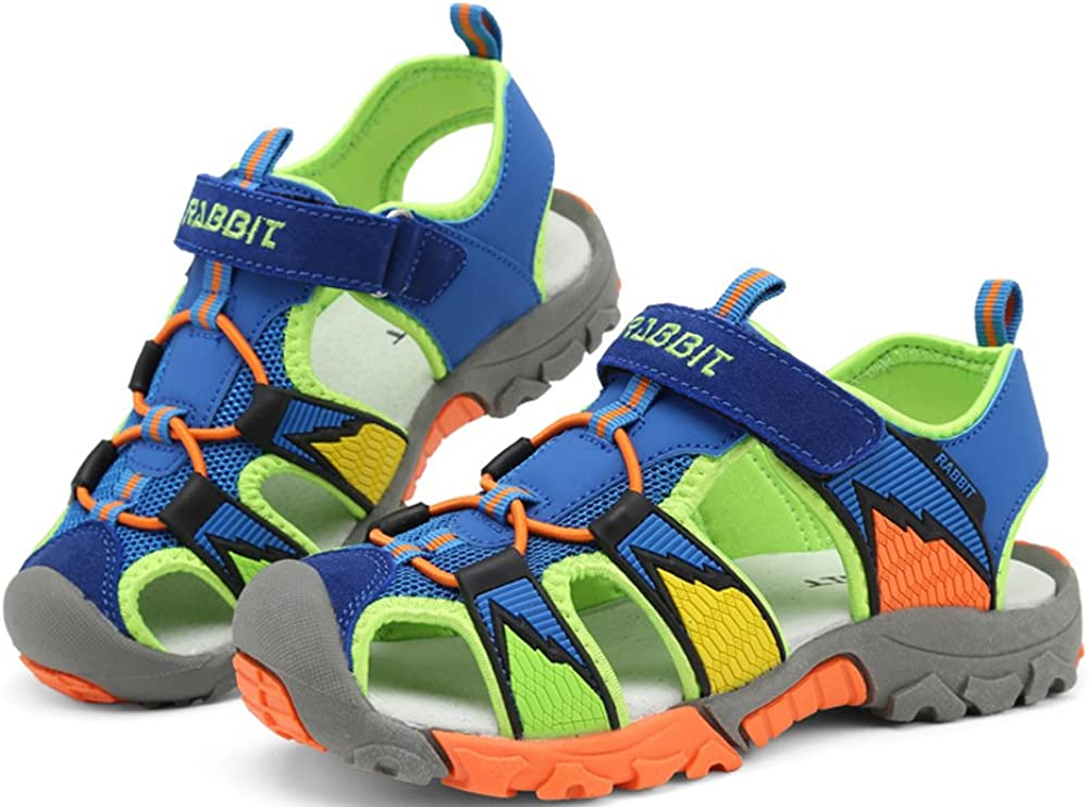 iDuoDuo Kids Contrast Color Closed Toe Athletic Outdoor Sandals Toddler//Little Kid//Big Kid