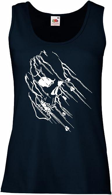 lepni.me Camisetas sin Mangas para Mujer Tatuaje de Calavera, Arte Gráfico Camisas del Día de los Muertos: Amazon.es: Ropa y accesorios