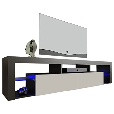 Meble Furniture & Rugs TV Stand Milano 200 LED Wall Mounted Floating 79