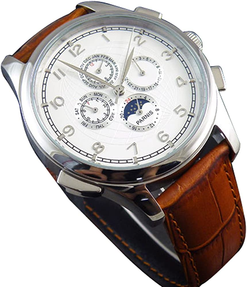 Carrie Hughes Men s Bronze Square Automatic Mechanical Stainless Steel Leather Watch CH668