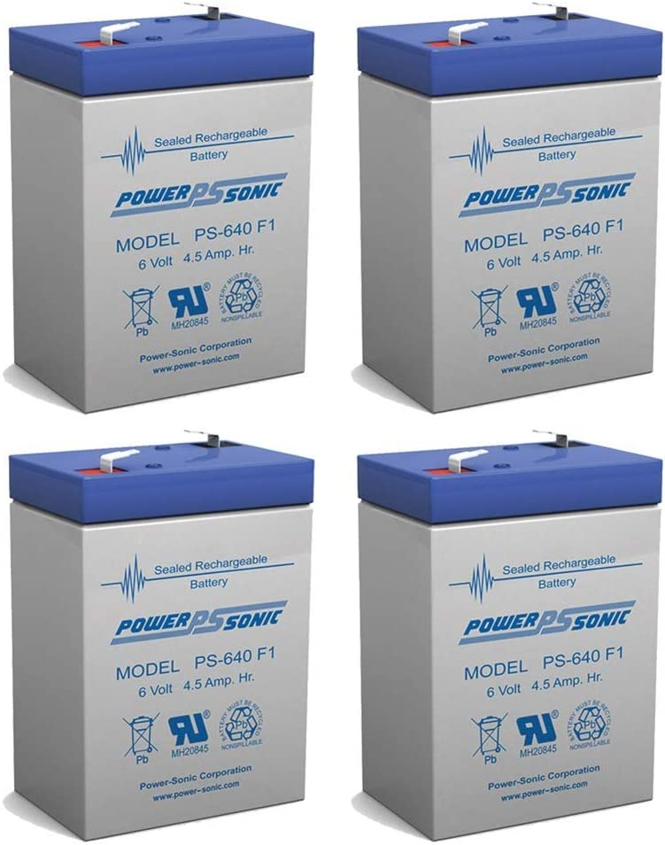 10 Pack 6V 4.5Ah PS-640 UB645 Replacement SLA Battery NEW! PS640F1