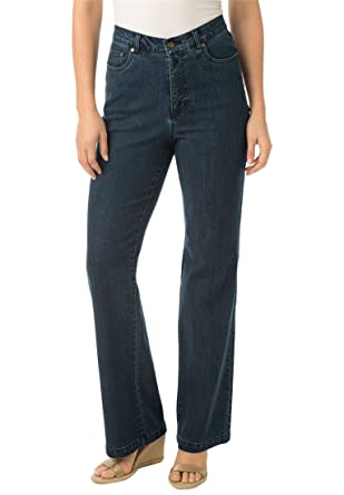 Women's Plus Size Tummy Tamer, The 5-Pocket Stretch Tall Bootcut ...