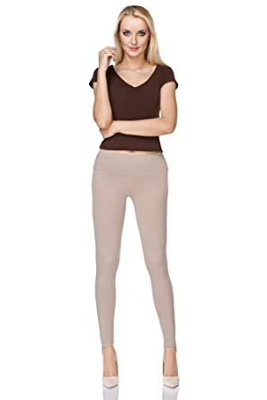 2a80a893c6a01 MITAAMI Full Lenght Durable Premium Cotton Leggings for Women High Classic Waist  Plus Sizes: Amazon.co.uk: Clothing