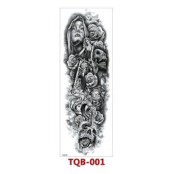 WOSOSYEYO TQB Brazo Completo Etiqueta Engomada del Tatuaje de la ...