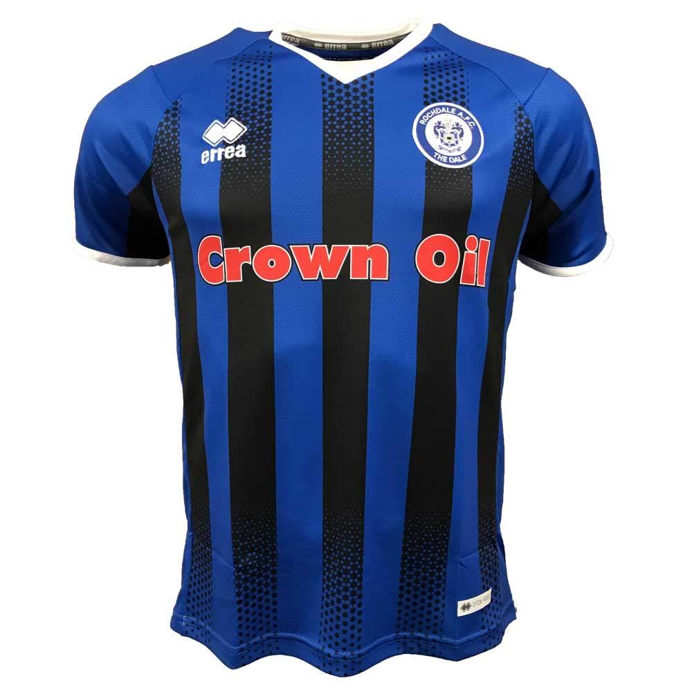 Errea 2018-2019 Rochdale Home Football Soccer T-Shirt Trikot