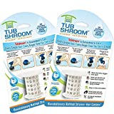 TubShroom 2-Pack Shower Tub Drain Protector, Hair Catcher, Strainer, Prevent Drain Clogging, (White) ()