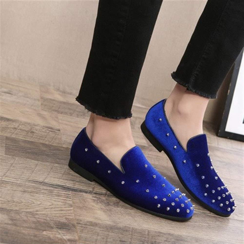 per il tempo libero in velluto antiscivolo Nero pantofole a punta con borchie argentate leggeri per camminare e lavorare pantofole da uomo 5.5 UK per la guida Mocassini da uomo 2019 da uomo