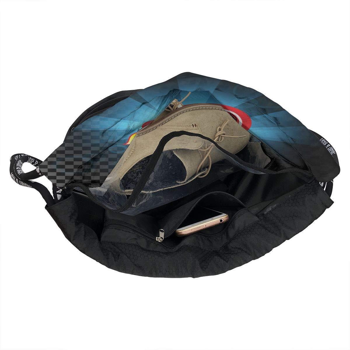 Soccer Fireball Men//Women Drawstring Pack Beam Mouth Yoga Sackpack Rucksack Shoulder Bags