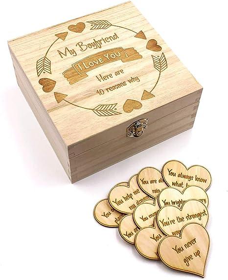 Regalo para novio, 10 razones por las que te amo caja de madera y ...