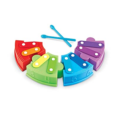 Learning Resources Rainbow Learning Xylophone, 6 Pieces: Toys & Games