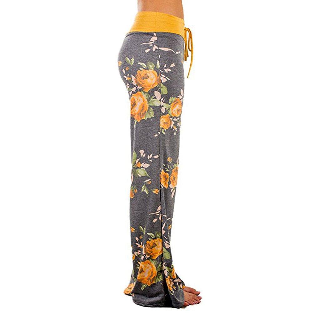 Muranba Clearance Women Casual Print Long Wide Leg Pants
