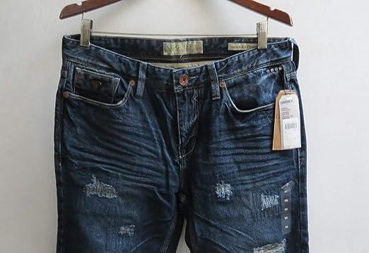 Amazon Com Guess Jeans Pantalones Vaqueros Para Hombre 34 Unidades Color Azul Y Negro Clothing