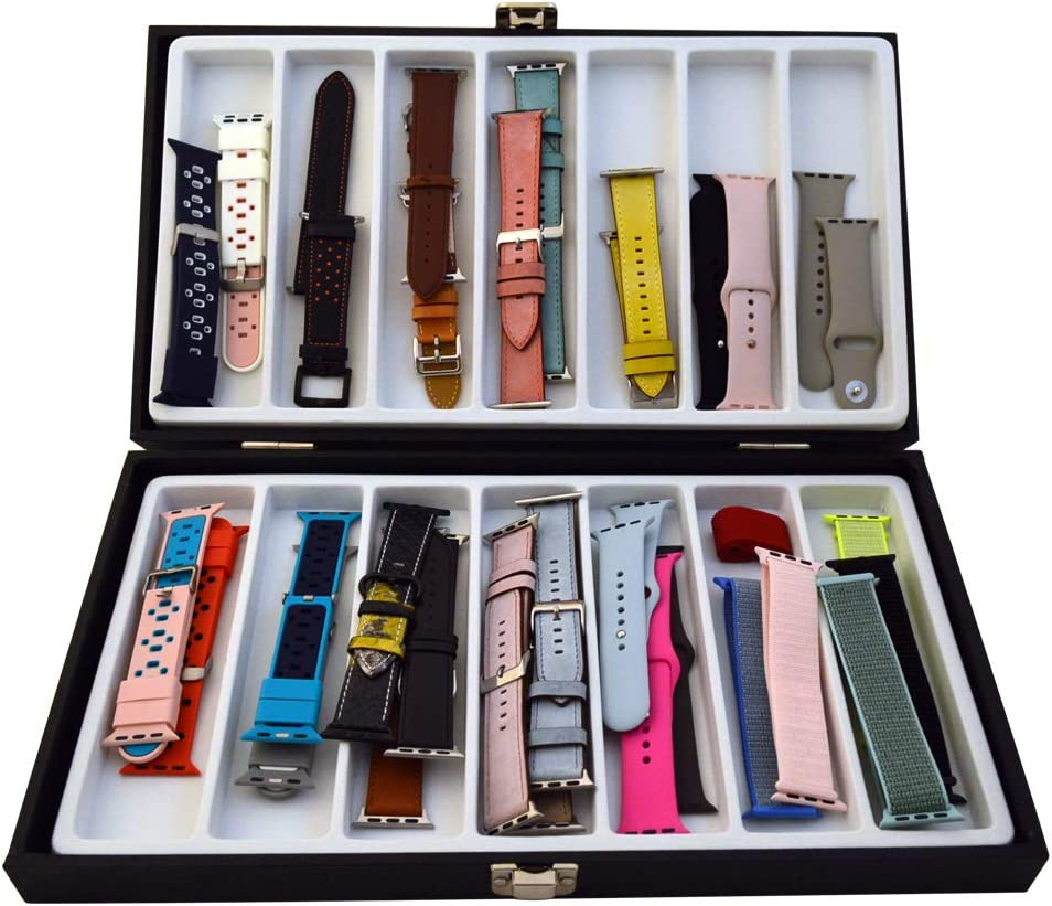 Xchangeables Storage Box Leather Case Organizer for Apples Watch Bands & Accessories