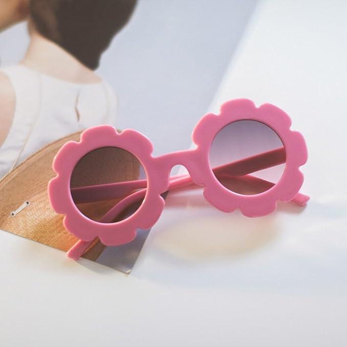 Occhiali da Sole di Plastica Morbida UV400 con Fiori Di Girasole per Bambino