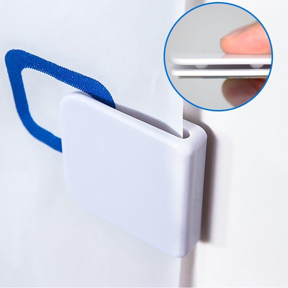 Uctop Store 4/PC Self-Adhesive Anti-Splash Shower Curtain clips antivento stop proteggere clip tenda della doccia paraspruzzi clip
