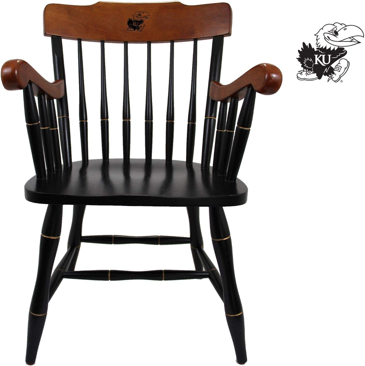 Cherry Crown with Cherry Arms Kansas Jayhawks Captains Office Desk Chair
