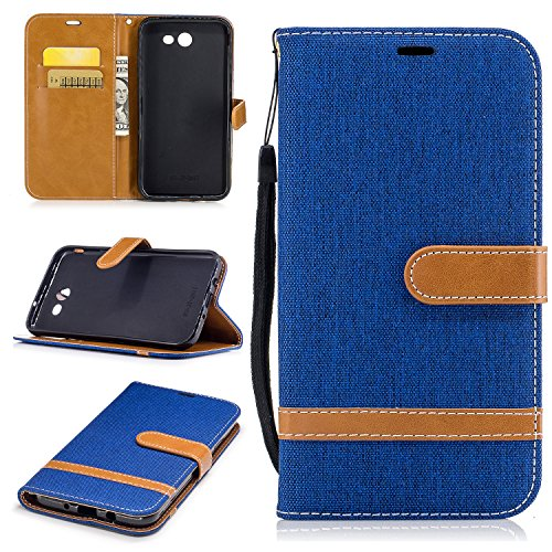 fan products of Galaxy J7 2017 Wallet Case, Galaxy J7 V Case, Galaxy J7 Perx Case, Galaxy J7 Sky Pro Case, Easytop Wallet Flip Protective Case Cover with Card Slots and Stand for Samsung Galaxy J7 2017 (Royal Blue)